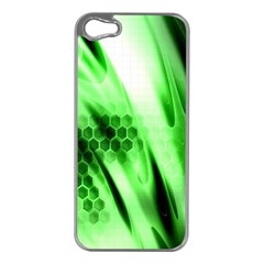 Abstract Background Green Apple Iphone 5 Case (silver)