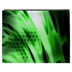 Abstract Background Green Cosmetic Bag (xxxl)