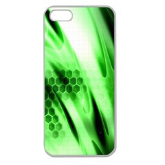 Abstract Background Green Apple Seamless iPhone 5 Case (Clear)