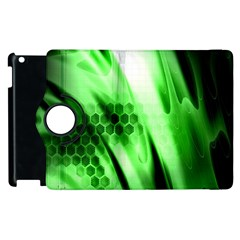 Abstract Background Green Apple iPad 2 Flip 360 Case