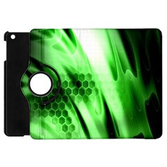 Abstract Background Green Apple iPad Mini Flip 360 Case