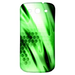 Abstract Background Green Samsung Galaxy S3 S III Classic Hardshell Back Case