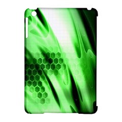 Abstract Background Green Apple iPad Mini Hardshell Case (Compatible with Smart Cover)