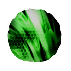 Abstract Background Green Standard 15  Premium Round Cushions
