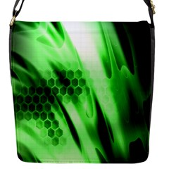 Abstract Background Green Flap Messenger Bag (S)