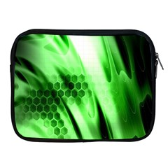 Abstract Background Green Apple iPad 2/3/4 Zipper Cases