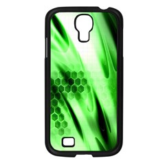 Abstract Background Green Samsung Galaxy S4 I9500/ I9505 Case (Black)