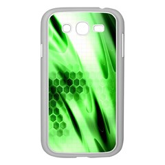 Abstract Background Green Samsung Galaxy Grand Duos I9082 Case (white)