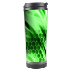 Abstract Background Green Travel Tumbler