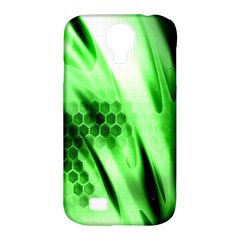 Abstract Background Green Samsung Galaxy S4 Classic Hardshell Case (PC+Silicone)