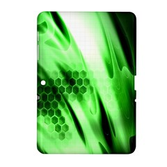 Abstract Background Green Samsung Galaxy Tab 2 (10.1 ) P5100 Hardshell Case