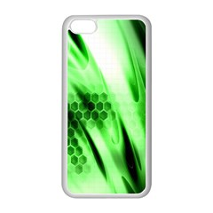 Abstract Background Green Apple iPhone 5C Seamless Case (White)