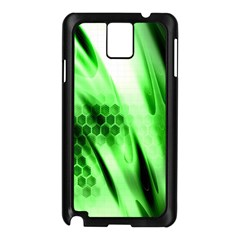Abstract Background Green Samsung Galaxy Note 3 N9005 Case (Black)