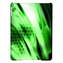 Abstract Background Green iPad Air Hardshell Cases
