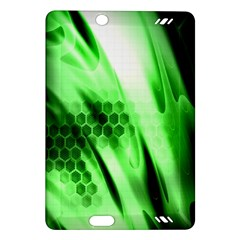Abstract Background Green Amazon Kindle Fire HD (2013) Hardshell Case