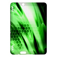 Abstract Background Green Kindle Fire HDX Hardshell Case