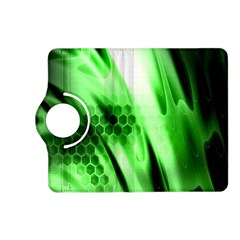 Abstract Background Green Kindle Fire Hd (2013) Flip 360 Case