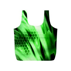Abstract Background Green Full Print Recycle Bags (S)
