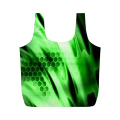 Abstract Background Green Full Print Recycle Bags (m)
