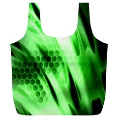 Abstract Background Green Full Print Recycle Bags (L)