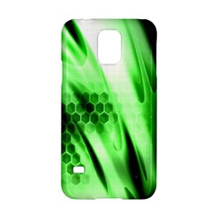 Abstract Background Green Samsung Galaxy S5 Hardshell Case