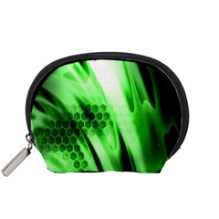 Abstract Background Green Accessory Pouches (Small)