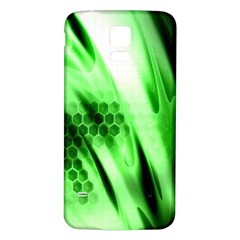 Abstract Background Green Samsung Galaxy S5 Back Case (White)