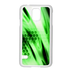 Abstract Background Green Samsung Galaxy S5 Case (White)
