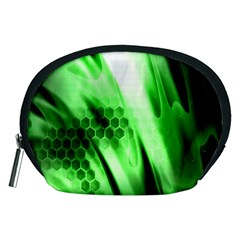 Abstract Background Green Accessory Pouches (Medium)