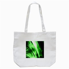 Abstract Background Green Tote Bag (White)
