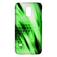 Abstract Background Green Galaxy S5 Mini