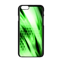 Abstract Background Green Apple Iphone 6/6s Black Enamel Case