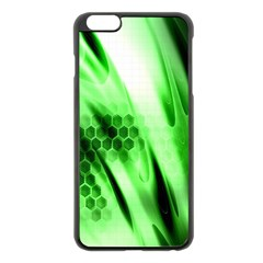 Abstract Background Green Apple Iphone 6 Plus/6s Plus Black Enamel Case
