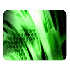 Abstract Background Green Double Sided Flano Blanket (Large)