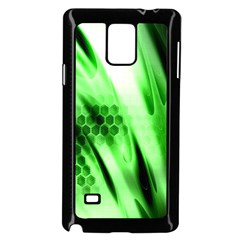 Abstract Background Green Samsung Galaxy Note 4 Case (Black)