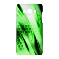 Abstract Background Green Samsung Galaxy A5 Hardshell Case