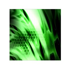Abstract Background Green Small Satin Scarf (Square)