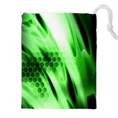 Abstract Background Green Drawstring Pouches (XXL)