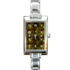 Textured Camo Rectangle Italian Charm Watch