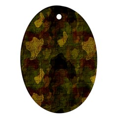 Textured Camo Ornament (oval)