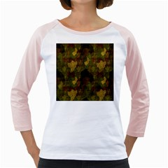 Textured Camo Girly Raglans