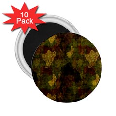 Textured Camo 2 25  Magnets (10 Pack)