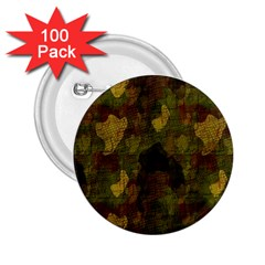 Textured Camo 2 25  Buttons (100 Pack)