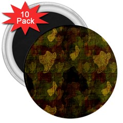 Textured Camo 3  Magnets (10 Pack)