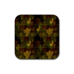 Textured Camo Rubber Square Coaster (4 Pack)