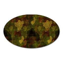 Textured Camo Oval Magnet