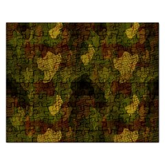 Textured Camo Rectangular Jigsaw Puzzl