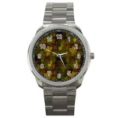 Textured Camo Sport Metal Watch