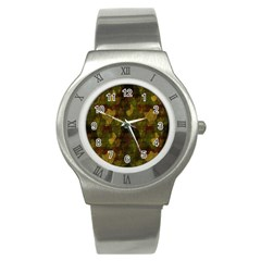 Textured Camo Stainless Steel Watch
