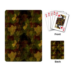 Textured Camo Playing Card